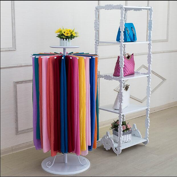 Iron round rotating scarf rack scarf rack clothing display rack towel rack cloth shawl display shelves