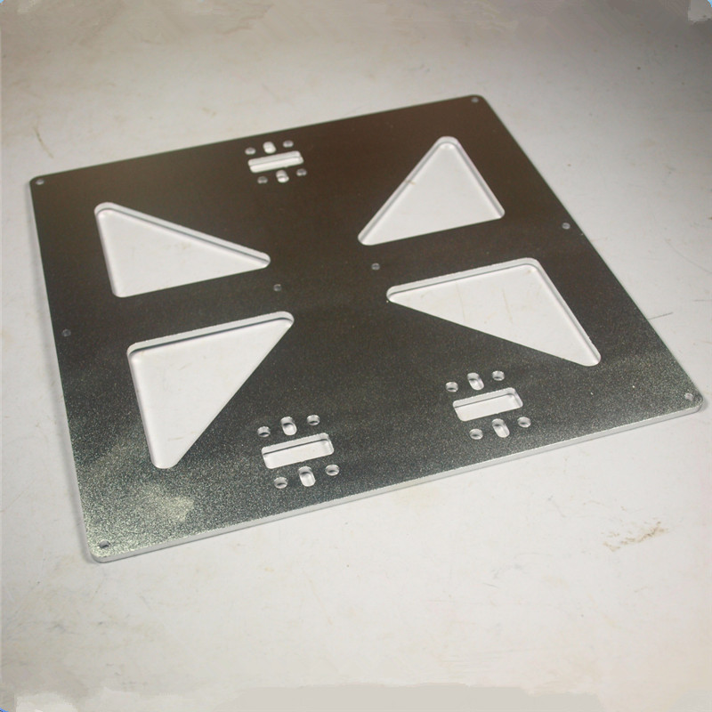 ФОТО 3 mm thick aluminum alloy build bed mounting plate Prusa i3 Universal Y Carriage Plate Upgrade, Aluminum Anodized for 3D Printer