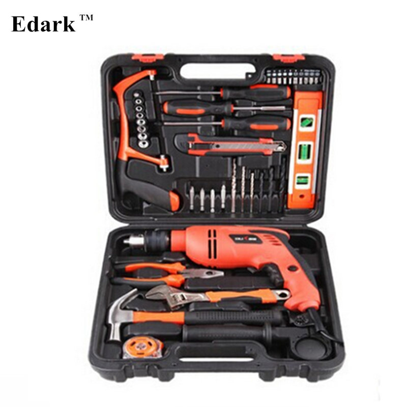 edark 220v drill multi functional drill set with hammer screwdriver knife saw pliers wrench. Black Bedroom Furniture Sets. Home Design Ideas