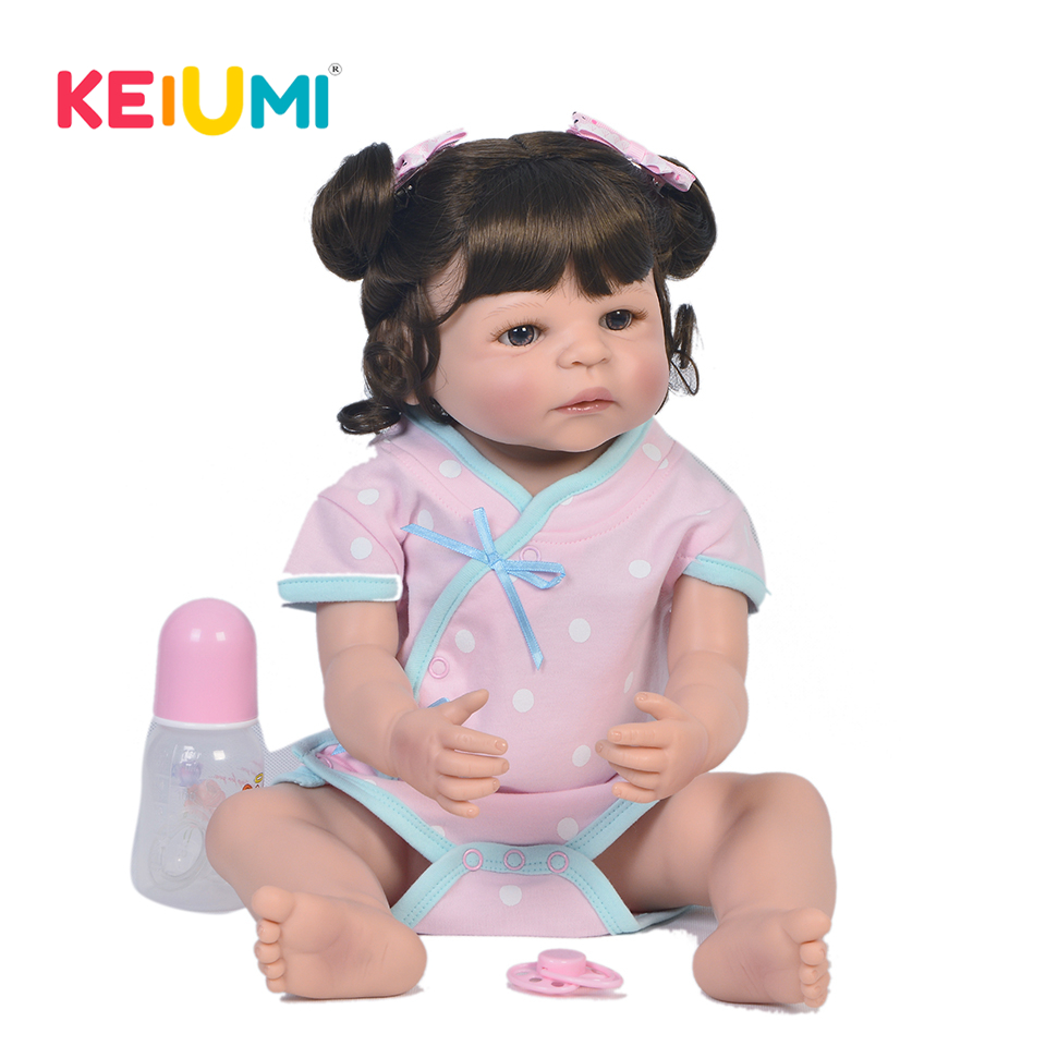Fashion Reborn Baby 22 Full Body Silicone Vinyl Realistic Reborn Dolls Babies Kids Childrens Day Gifts Lovely Playmates ToysFashion Reborn Baby 22 Full Body Silicone Vinyl Realistic Reborn Dolls Babies Kids Childrens Day Gifts Lovely Playmates Toys