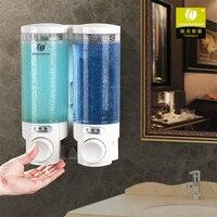 2pcs 300ml Wall Mount Pump Lotion Liquid Soap Dispenser Shampoo Box For Home Hotel Bathroom Toilet Shower Room