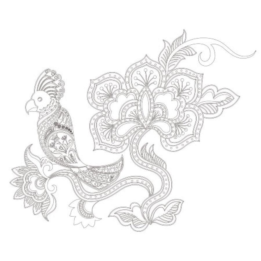 Desain Batik Dekoratif Hitam Putih