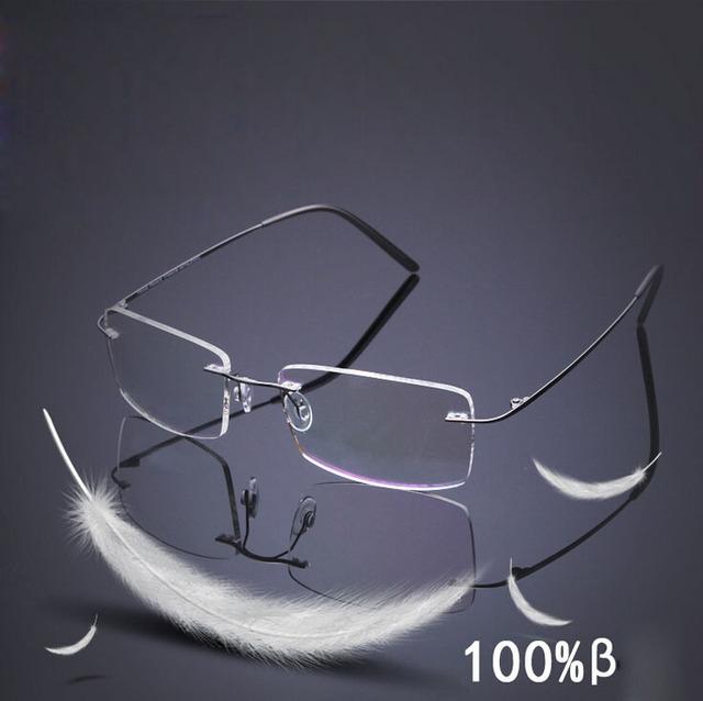 2016 Marca de Titanio marco Sin Montura gafas de sol Polarizadas Súper ligero Hombres de Conducción espejo gafas de Sol Urltra-light marco de la memoria