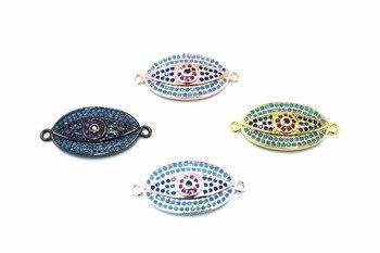 Eye Cubic Zirconia Bracelet Pendant.Micro-inlay Cubic Zirconia.Gold Plating 24K Gold. Color Durable Jewellery Accessories Мотоцикл
