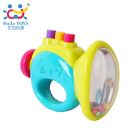 Brand Huile Toys Gifts For Baby Rattle Mobile Trumpet Rattles Baby Toy Sounding Toys Handbell Educational