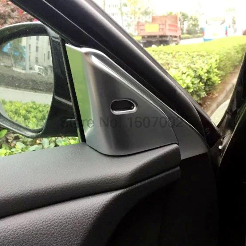 For Nissan TEANA 2016 2pcs Car Chrome Matte Front Inner Triangular Cover A Pillar Molding Trim Protective Auto Accessories