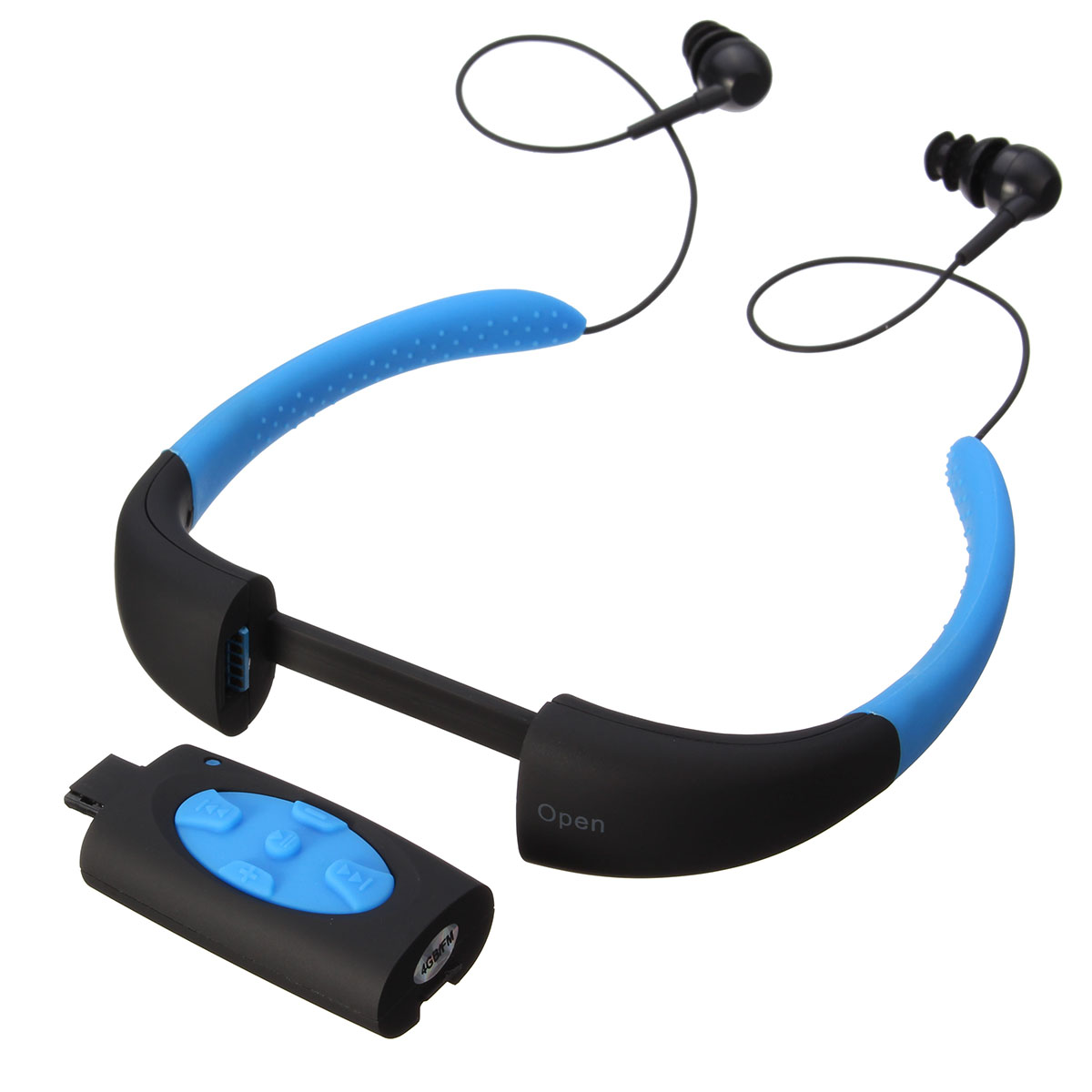 LEORY IPX8 Waterproof MP3 Player Headset Swimming Surfing SPA Diving Sports MP3 Player Built in 4GB Memory vacation