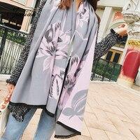 뜨거운 울 겨울 여성 스카프 패션