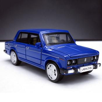 1 32 rosyjski LADA 2106 Alloy klasyczny Model samochody zabawkowe Diecasts Metal Casting wycofać oświetlenie do zastosowań muzycznych samochody zabawkowe dla dzieci pojazdu tanie i dobre opinie NoEnName_Null 3 lat Certyfikat 000158 1 32 Inne Samochód