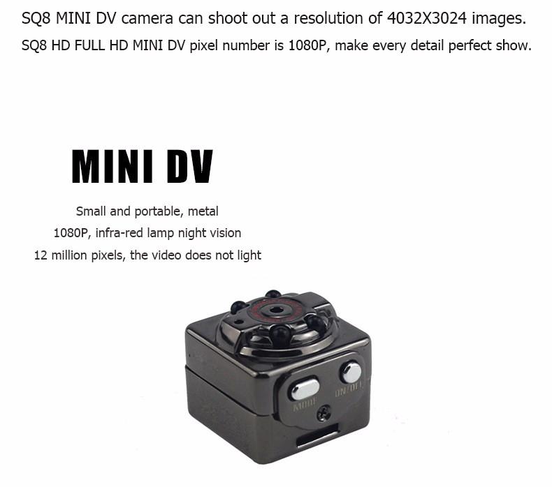 Sport Action Mini Camera HD 1080P 720P SQ8 Camera Recorder Kamera DV Video Recorder Infrared Night Vision Digital Usb Cameras  (23)