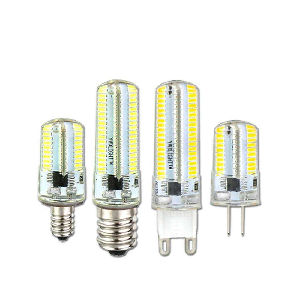 Dimmable E11 E12 E14 E17 Silicone LED Bulb 220V 110V SMD 5730 G4 G8 G9 LED Lamp 80LEDs Spotlight Chandelier Light for Home Decor