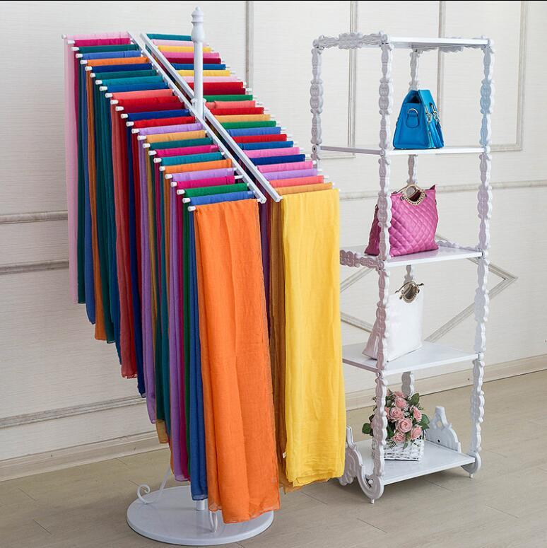 Clothing Shop Tieyi Scarf Rack Floor Type Double Row Scarf