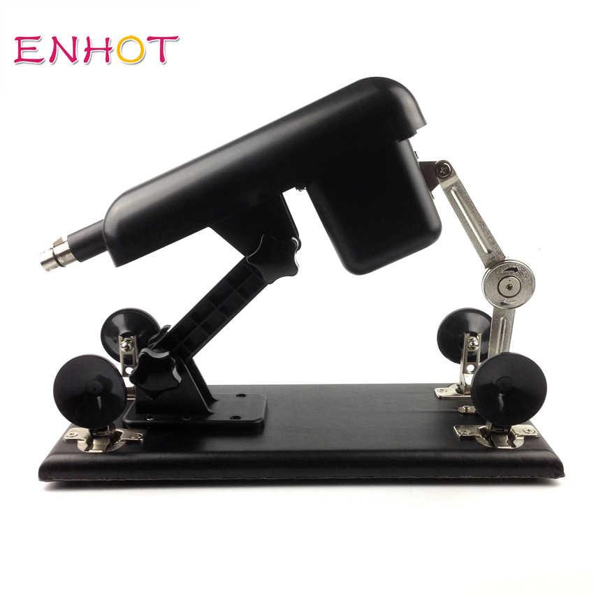 ENHOT Sweet Papi sex machine for women 6 dildos+2 extension rods,AU,EU,USA,UK plug,automatic retractable love machine Papi-004
