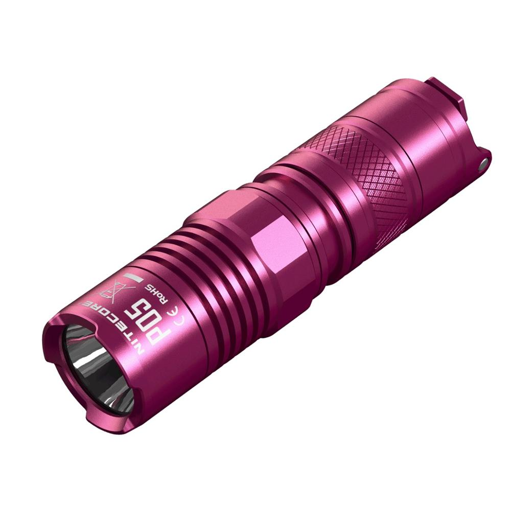 2016 New Arrival NITECORE P05 PINK 460 lumens CREE XM-L2 U2 White light Gear Law Enforcement Military Hand Lamp Flashlight nitecore 800 lumens p20uv cree xm l2 u2 ultraviolet for gear hunting law enforcement military outdoor camping search flashlight