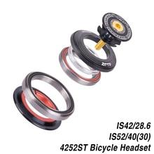"""Casco Para Bicicleta de Montaña 42, 41,8, 52mm, 1, 1/8 """", 1, 1/2"""", horquilla recta cónica, rodamiento de contacto Angular integrado, 4252ST"""