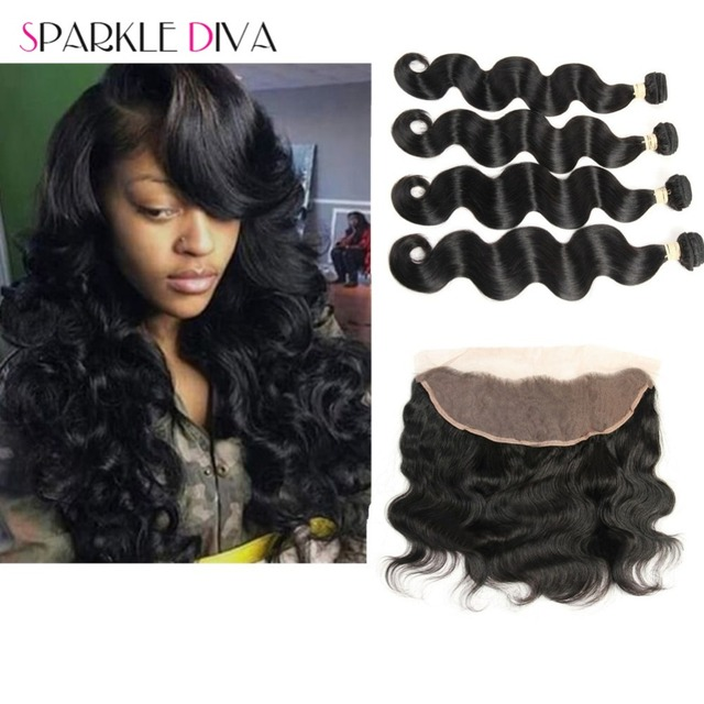Peruvian Bodywave With Closure Ali Moda Hair With Closure 4 Bundles With Closure Peruvian Hair Bundles With Lace Frontal