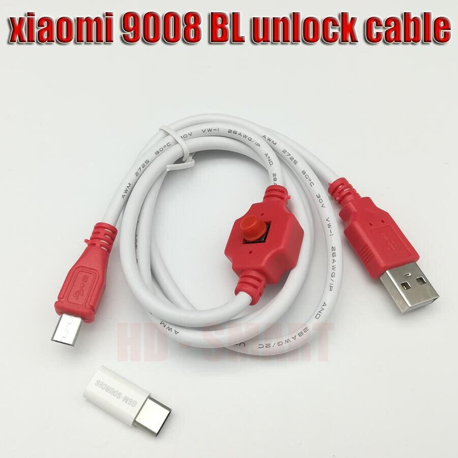 Câble flash d'origine forXiaoMi EDL 9008 BL câble de déverrouillage Redmi téléphone port ouvert 9008 prend en charge tous les serrures BL câble EDL + piste NO