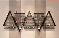 Nail Art Display Nail Polish Plastic Shelf Nail Polish Shelf Cosmetics Store Display Cabinet Shelf Wall Shelf.