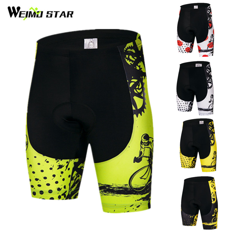 Weimostar Coolmax 4D Padded Cycling Shorts Men Women Downhill MTB Bicycle Shorts Road Tight Bike Shorts Bermuda Ciclismo Hombre