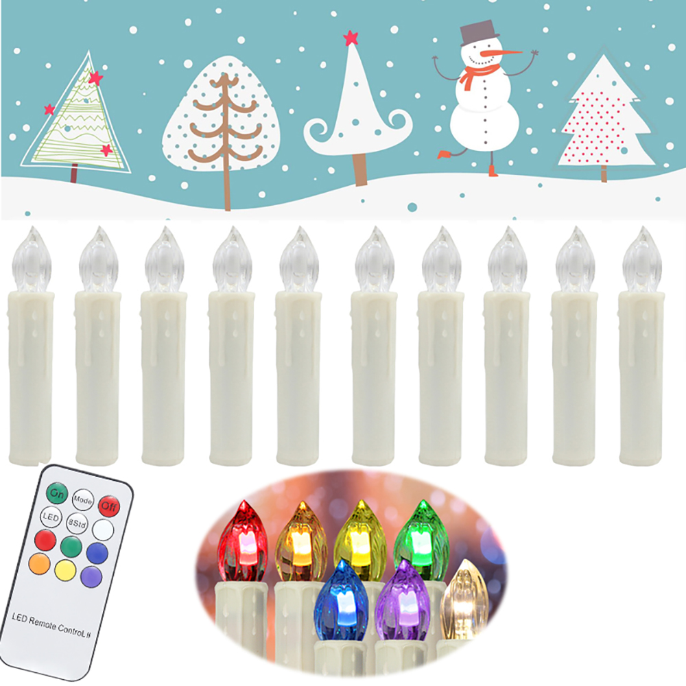 70 piezas Multicolor electrónico parpadeante LED vela de Navidad luz hogar fiesta decoración con Control remoto