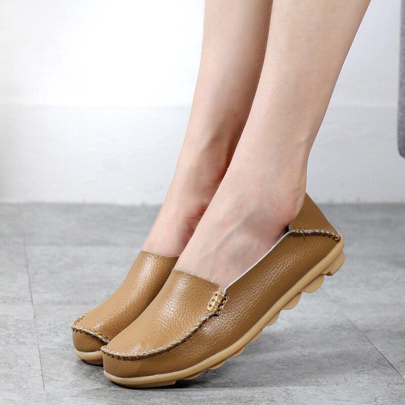 2017 Mujeres de La Manera Pisos Causal Sólido zapatos cómodos planos de las muje
