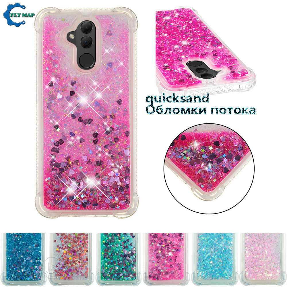 Fitted Cases Delicious Glitter Stars Cover For Huawei Mate 20 Lite 20lite Sne-lx1 Sne-lx2 Sne-lx3 Sne Lx1 Lx2 Lx3 Liquid Quicksand Soft Tpu Back Case