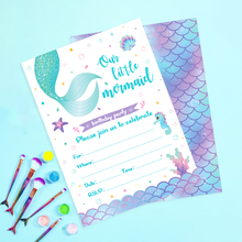 618 Sale Promotion Let's Be Mermaid Party Invitation Cards Your're Invited Invitations Little Mermaid Kids Party Decorations