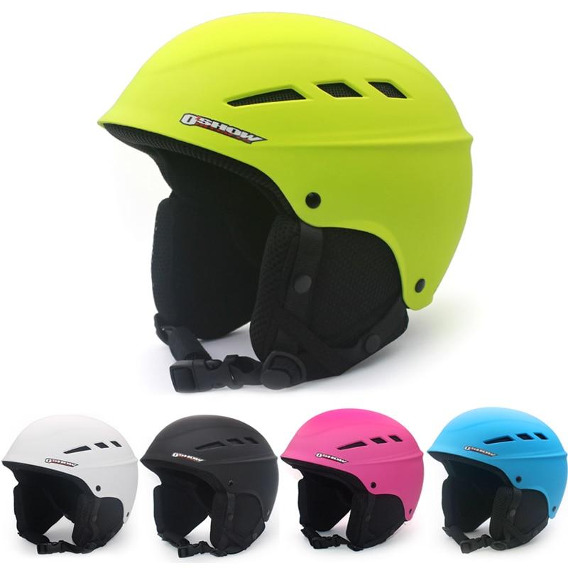 все цены на OSHOW Ski Helmet For Adult Half-Covered Snowboard Helmet Sports Helmet Women Helmet Covers Safety Skate Light онлайн