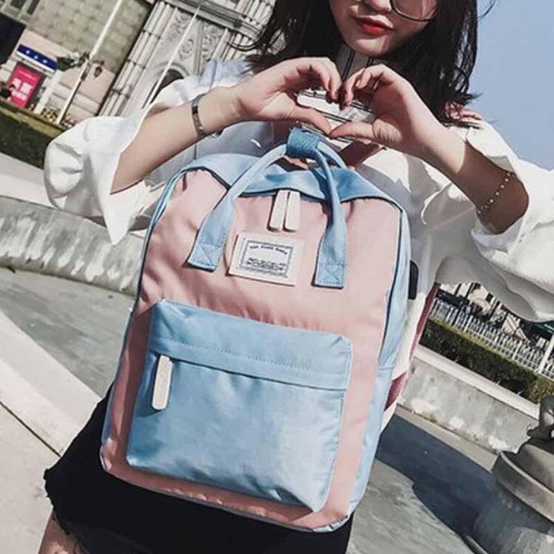 HTB1yMwnB8mWBuNkSndVq6AsApXaK Yogodlns Campus Women Backpack School Bag for Teenagers College Canvas Female Bagpack 15inch Laptop Back Packs Bolsas Mochila