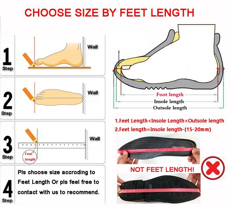 choose size by feet legnth