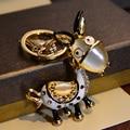 MS мультфильм кристалл брелок ослик ключа автомобиля цепи кулон подарок мешок 4.5 см * 4 см бесплатная доставка