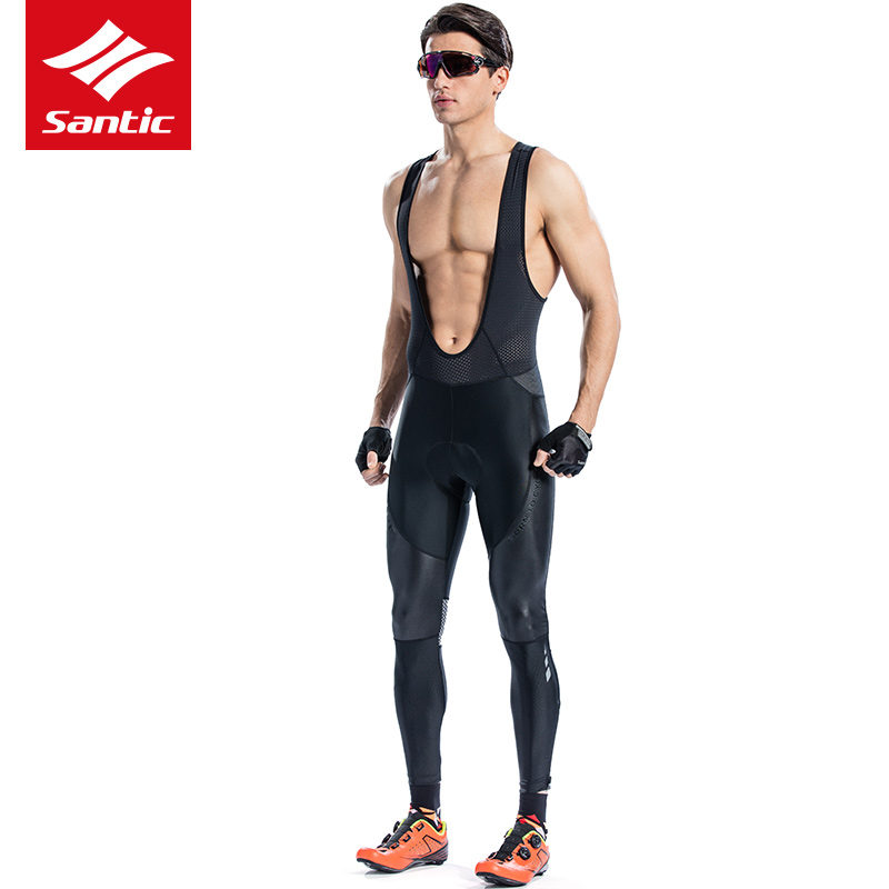 Santic Men Spring Autumn Cycling Pants Pro Team Mountain Road Bike Bib Pants Italian Imported Padded Bicycle Long Pants Ciclismo santic cycling bib long high quality tights men coolmax sponge padded sport road mountain bike pants anti pilling bicycle pants