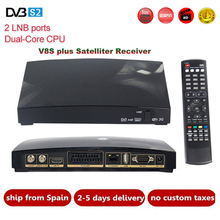 Original V8S Plus DVB-S2 Digital Satellite TV Receiver Full HD 1080P AV HD Output decoder Support Xtream IPTV Youtube Biss Key