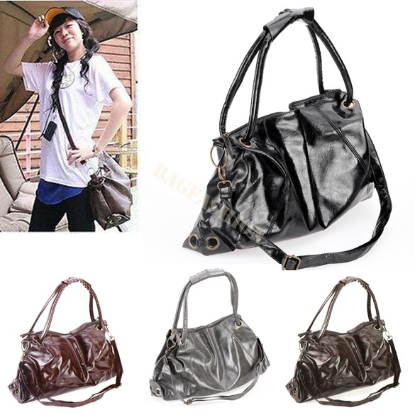 holiday Korean Style PU Leather Handbags Shoulder tote Bags for ...