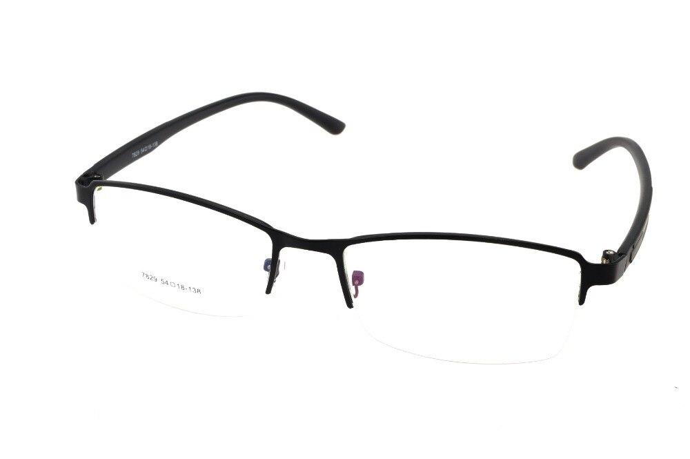 d1a141c11a8f72 Titanium Alliage Hommes Lunettes Cadre Demi-Jante Optique Custom Made  Prescription Myopie Verres Progressifs Photochromic-1 A-10