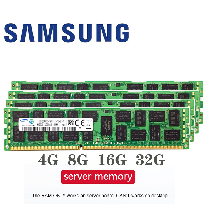 Samsung GB GB 16 8 4 GB 4G 8G 16G DDR3 2RX4 PC3-10600R 12800R 14900R ECC REG 1600 Mhz 1866 Mhz 1333 Mhz PC RAM de memória RAM Do Servidor 1600