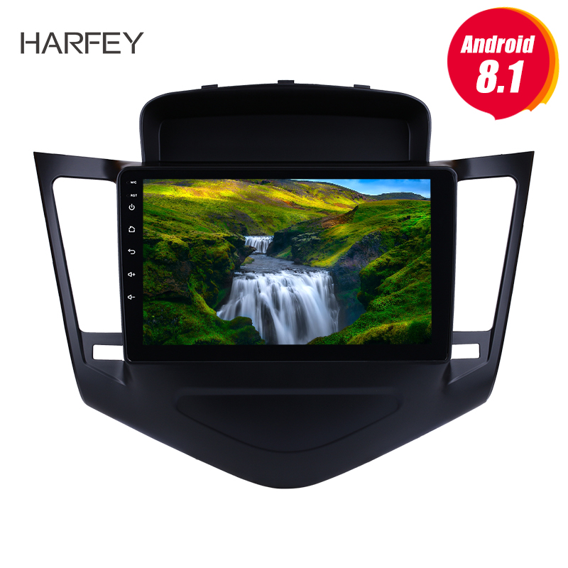 Harfey Android 8.1 car multimedia player Radio for Chevrolet Cruze 2013 2014 2015  with GPS Navigation 9 inch Bluetooth USB OBD2-in Car Multimedia Player from Automobiles & Motorcycles    1