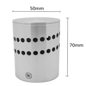 Modern LED Wall Light Aluminum Hollow Cylinder RGB 3W Remote Control Indoor Outdoor Home Lightinh AC 85-265V