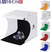 LANBEIKA 2 LED Licht Tragbare Softbox Klapp LED Studio Mini Tisch Top Foto Fotografie Licht Box Schießen Prop Leuchtkasten