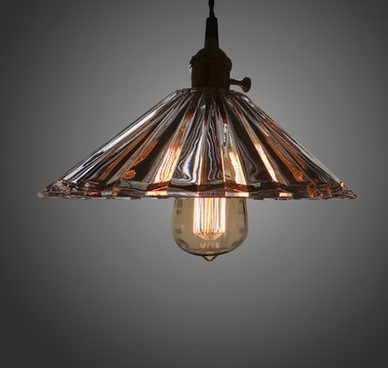60W Edison Lamp Loft Style Industrial Lamp Vintage Pendant Light with Glass Lampshade,Lustres De Sala Teto Pendente 60w edison vintage pendant lights with metal lampshade retro loft industrial lamp lamparas pendente de techo hanglamp