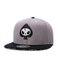 Brand Street Adjustable Flat Peak Caps Whole Fashion Hat Skull Head Snapback Cap Men Women OEM