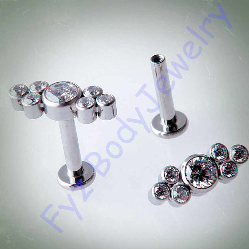 G23 Titanium 14G 16G  Internal Thread Ear Tragus Cartilalges Stud Earring  Labert Lip Percing Body Jewelry