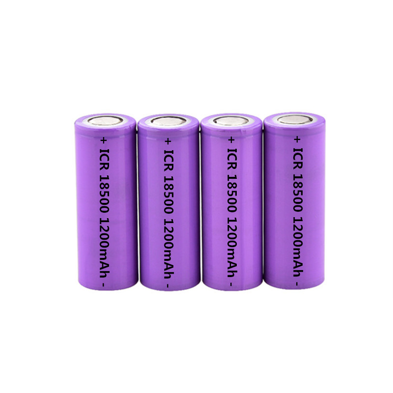4pcs 18500 Batteries <font><b>1400mAh</b></font> <font><b>3.7V</b></font> 18500 Rechargeable Lithium Battery for Strong Light Flashlight Anti-light Special Lithium Cell image