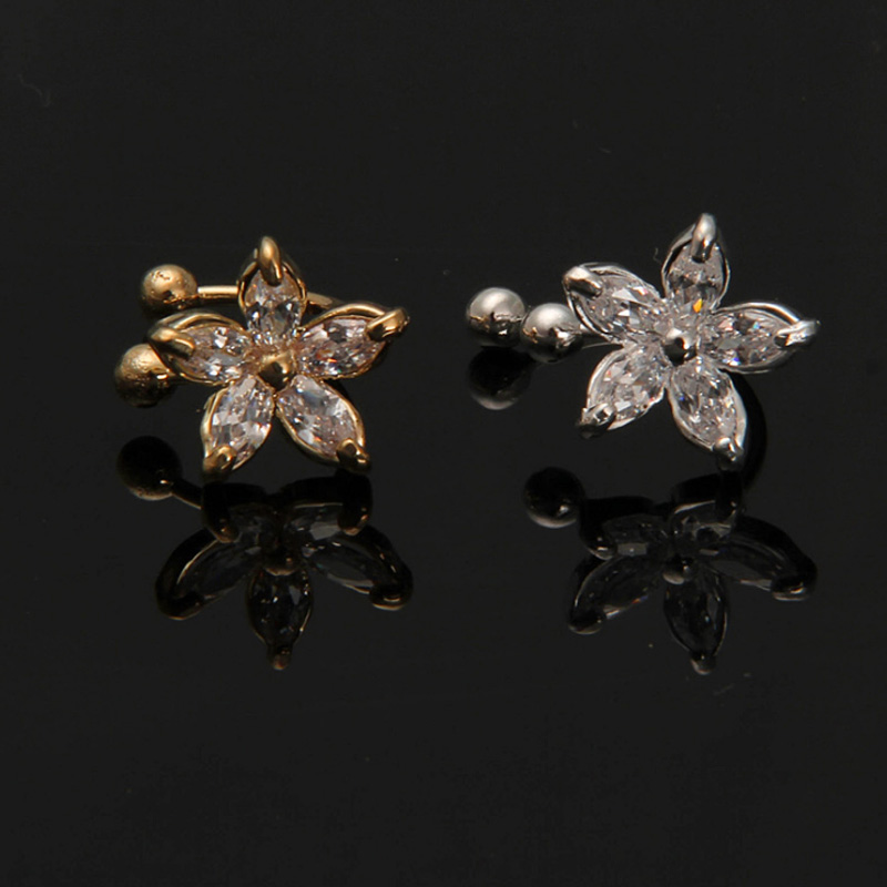Jewelry & Accessories Impartial 1pc Fashion Women Clip Ear Cuff Fake Flower Daisy Earring Wrap Crystal Cartilage Ear Stud Lady U-type