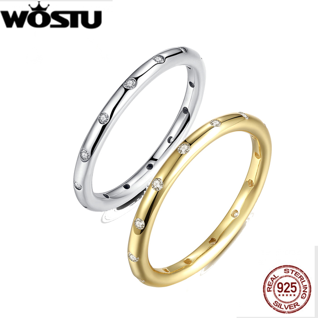 Brand 925 Sterling Silver Droplets Stackable Finger Classic Ring for Women Weddi