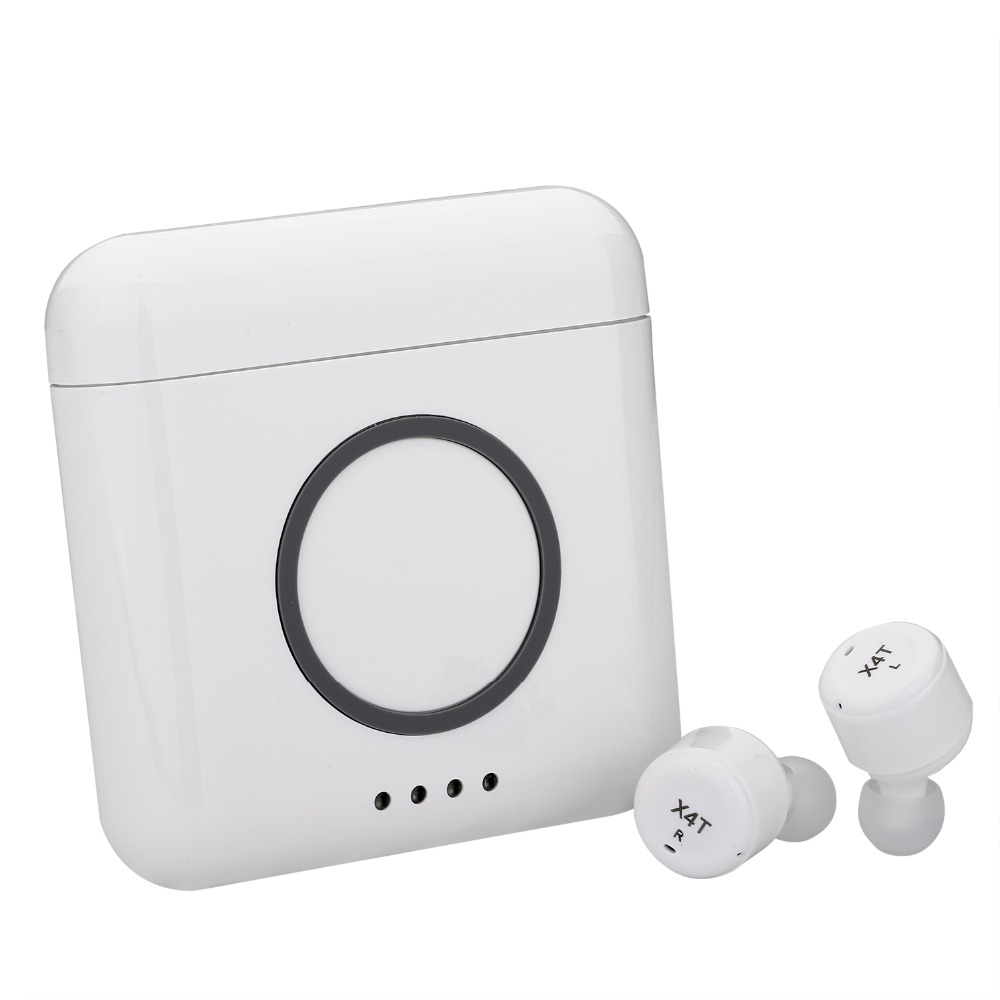 2018 последние Bluetooth наушники X4T TWS Беспроводная зарядка коробка для мобильного телефона HiFi гарнитура с наушники с микрофоном для iphone x