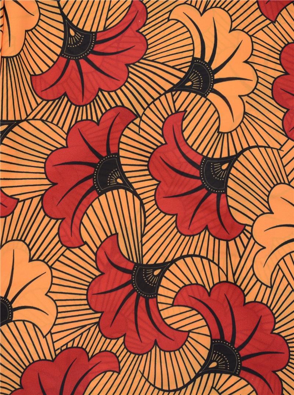 Silk Chiffon Digital Bedruckten Stoff Material Nigeria Design Stoffe ...
