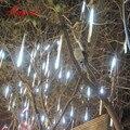 30cm 144 led/50 cm 240led luz chuva queda queda queda queda queda neve natal luzes da corda, árvore ao ar livre, 8 tubos/conjunto