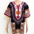 Dashiki Рубашки Мужчины Женщины Традиционных Африканских Одежды Плюс Размер Черный Синий Зеленый Orange Фиолетовый Красный Хлопок Dashiki Ткань