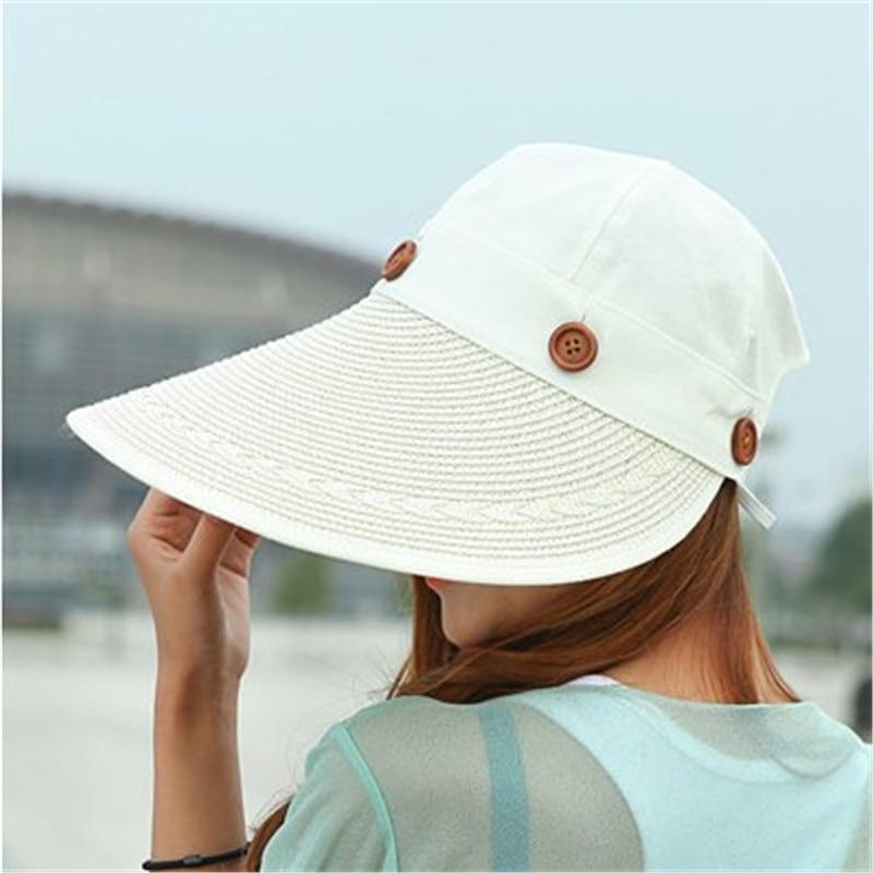 Chapeau visière large en paille
